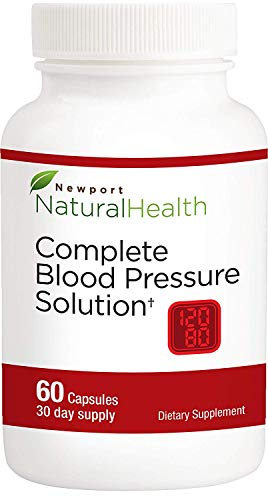 Blood Pressure Supplement Pills for Blood Pressure Support Maintain Healthy BP Levels with Newport Natural Health Complete Blood Pressure Solution – 60 Capsules 30 Day Supply