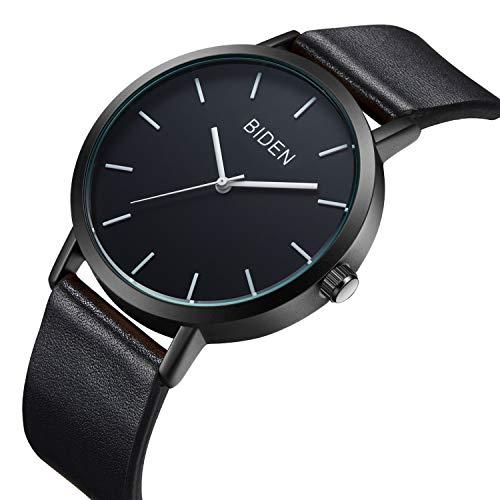 Watch Womens Unisex Simple Casual Leather Waterproof Analog Quartz Dress Wrist Watch