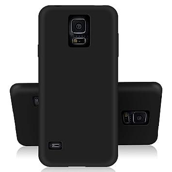 SDTEK Samsung Galaxy S5 Funda [Matte Carcasa] (Negro) Case Bumper Cover Suave Crystal Silicona Samsung Galaxy S5