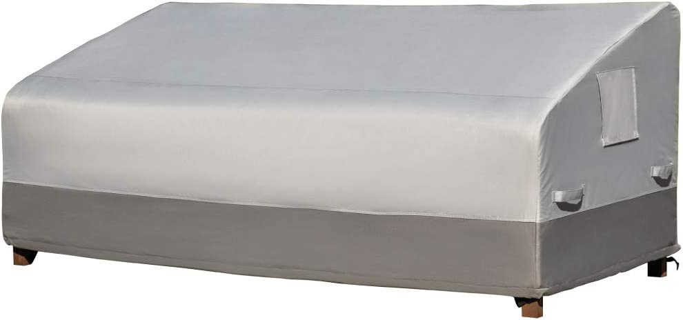 Gorilla Grip Premium Outdoor Furniture Sofa Cover, Thick Waterproof All-Weather Durable Covers, UV Coating Protectors, Secure Fit with Straps, Adjustable Elastic Cord, Air Vent, Deck, Patio Sofa