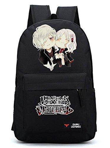 YOYOSHome Anime Diabolik Lovers Cosplay Rucksack Backpack School Bag (Black)