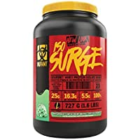 MUTANT ISO SURGE Whey Protein Powder Acts FAST to Help Support, Recovery, Muscle Building, and Strength, High-Quality Ingredients Only, (727 g), Mint Chocolate Chip