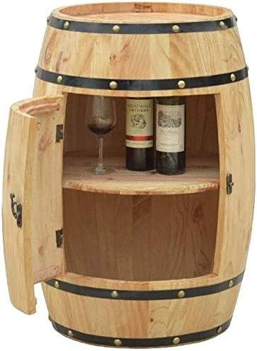 AXWT Barricas de Roble, armarios de Vino, barriles de Cerveza, barriles de Madera Decorativos y de visualización Natural Bodega de Madera,Wood Color
