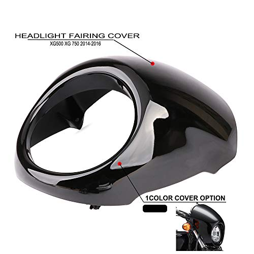 Head Light Fairing Mask Cover Front Headlight Fairing Cowl For Harley Davidson Street XG 500 XG750 2014-2016