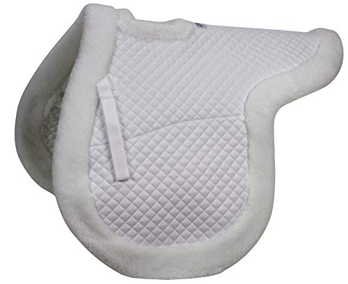 Pad Show - Derby Originals Contour All Purpose Wither Relief Fleece Edged English Saddle Pad
