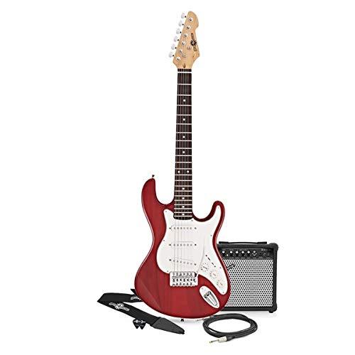 3/4 LA Electric Guitar + Amp Pack Wine Red