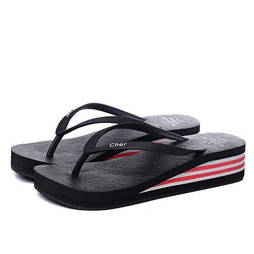 E Zapatillas Zapatos Negro 2 LIXIONG Plástico Portátil moda Amarillo Sandalias Color 1 Multicolores Negro Rosa Azul Azul De Rojo Mujer Para Tamaño Verano Antideslizantes Marrón De de Amarillo PFXPw