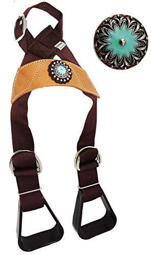 CHALLENGER Horse Saddle Western Kids Child Youth Pony Buddy Stirrups w/Concho 5138CO555