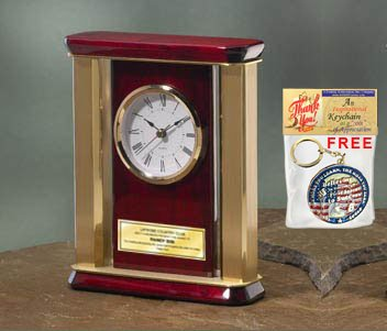 Amazoncom Personalized Desk Table Clock With Gold Brass Columns