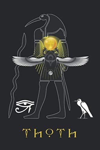 (Thoth: Journal Scarab Beetles The Eye of Horus Blank Wide Ruled Line Paper Notebook Ancient Egyptian Deities Gifts)