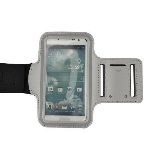 Gray Active Sports Armband for Motorola Moto E / Moto x / Moto G / Nokia Lumia 1020 920 928 and more smartphone (Armband Nokia Lumia 920)