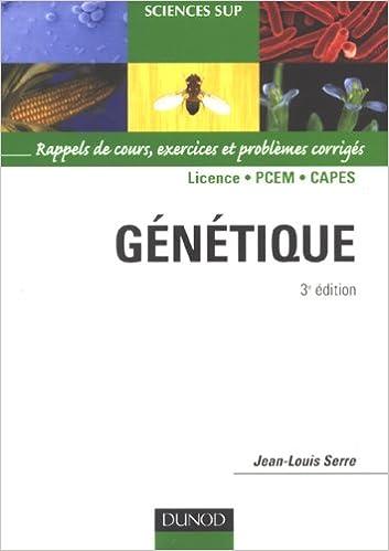 Lire Génétique : Rappels de cours, exercices et problèmes corrigés epub, pdf