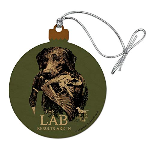 (GRAPHICS & MORE The Lab Results are in Labrador Duck Hunting Wood Christmas Tree Holiday Ornament)