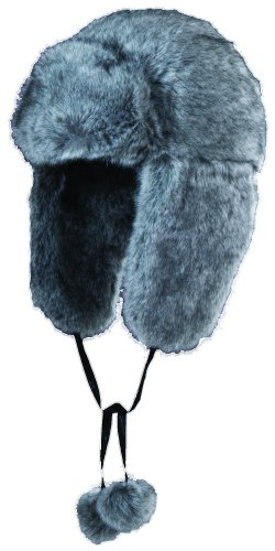 Scala Faux FUR Trooper Hat (Grey)