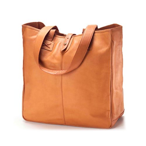 Clava Leather Oversized Tote Tan