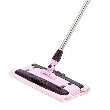 Limpieza de la escoba de piso estático Limpieza de la vajilla con toallitas húmedas o secas, rosa: Amazon.es: Hogar
