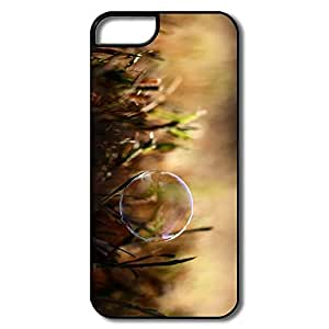 IPhone 5 5S Case, Soap Bubble Grass White/black Cases For IPhone 5 5S