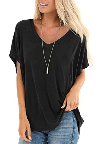 SAMPEEL Womens Short Sleeve Tops Dolman V Neck T-Shirts Summer Casual