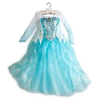Amazon Disney Store Frozen Elsa Dress Costume Size 5 6 Clothing