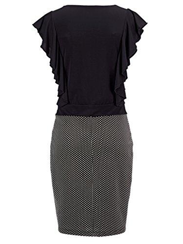 Schwarz Volants 48 40 Gr Marken 1217372191 Kleid Seitlichen Gr mit I4x5qw6PBn