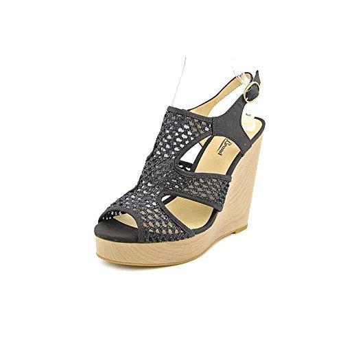Lucky Brand Frauen Sandalen mit Keilabsatz Black