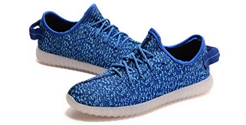 Acme Made USB LED Luminous Charging Shoes Flashing Sneakers For Unisex Men and Women Dark Blue zDembm