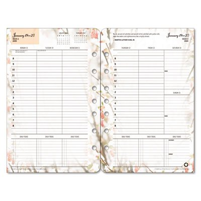 Blooms Dated Weekly (FranklinCovey Blooms Dated Weekly/Monthly Planner Refill, January-December, 5.5