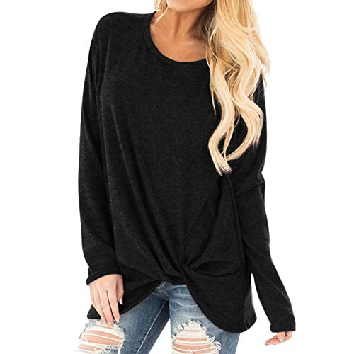 WOCACHI Womens Knit Sweaters V Neck Bottoming Pullover Solid Blouses Patchwork Long Sleeves Sweatshirts Winter Big Warm Shirts Tops Gray, Medium