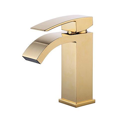 gold bathroom sink faucet - 3