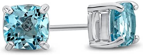 6x6mm Cushion Post-With-Friction-Back Stud Earrings