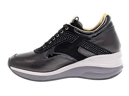 in Donna 4us Paciotti Cesare pelle nera 4used3 Sneakers XqBF8Zw