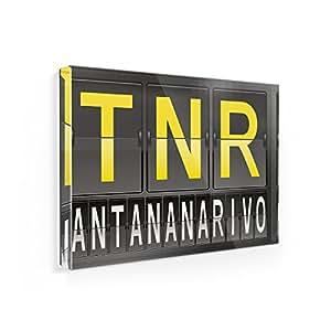 Imán para nevera TNR aeropuerto código para Antananarivo–Neonblond