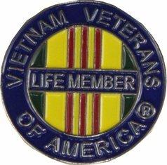 - MilitaryBest Vietnam Veterans of America (VVA) Life Member Pin