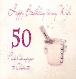 wife 50th birthday handmade birthday card amazon co uk kitchen home