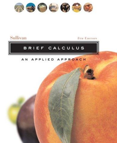 Brief Calculus: An Applied Approach