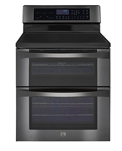 Kenmore Elite 96047 6.7 cu. ft. Self Clean Electric Double Oven Range w/True Convection in Black Stainless Steel, includes delivery and hookup