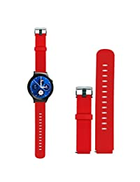 Tonsee Sport Fitness Silicone Watch Band Strap with Steel Buckle For Huawei Smart Watch - Red