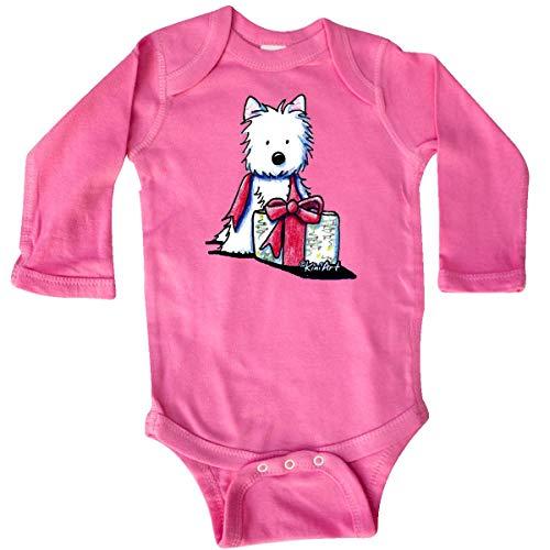 inktastic - Westie Gift Long Sleeve Creeper 18 Months Raspberry - KiniArt 3dfb ()