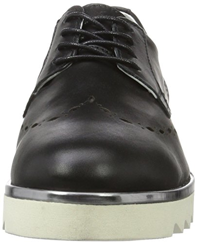 Derby Daniel Mujer de Cordones Zapatos Hj74091 Schwarz 100 Hechter Negro para qxnUxfA