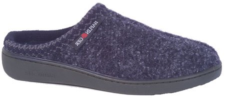 Wool Womens Clogs (Haflinger Unisex AT Boiled Wool Hard Sole Slipper, Navy)