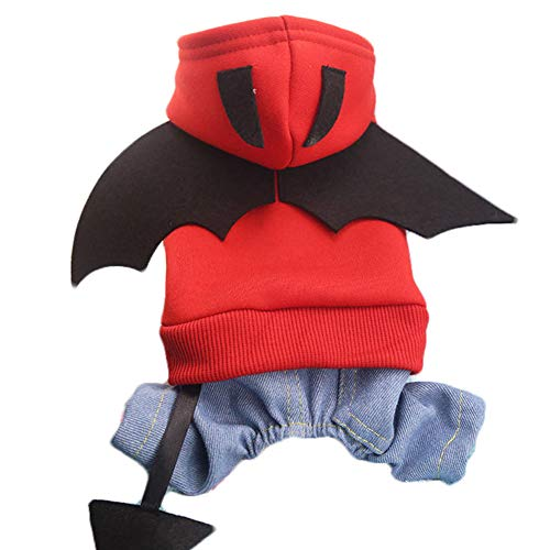 Hemore Batman Dog Pet Costume Batman Shirt with Wings Clothes for Dogs Pets Large Size