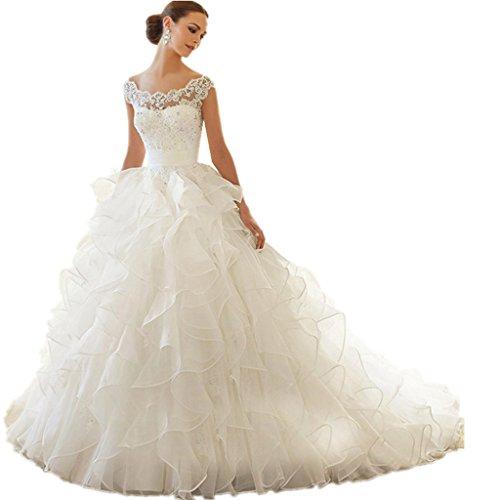 WANNISHA-Elegant-Cap-Sleeves-A-Line-Ruffle-Wedding-Dress-With-Appliques-Beaded