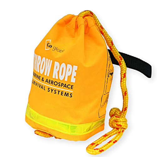 Goglobe Throw Rope Throw Bag 60 Feet Floating Rope for Boating Kayaking Ice Fishing Boat Safety