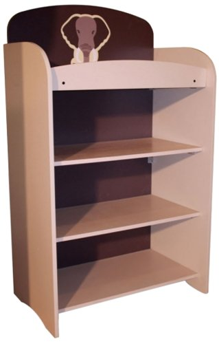 Woody Wood Kids Furniture Safari Bookshelf Beige Brown