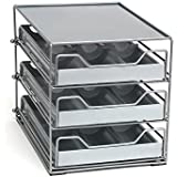 Lipper International 8720 Three- Tier Tilt Down Spice Drawer, Silver/Gray 2-Pack