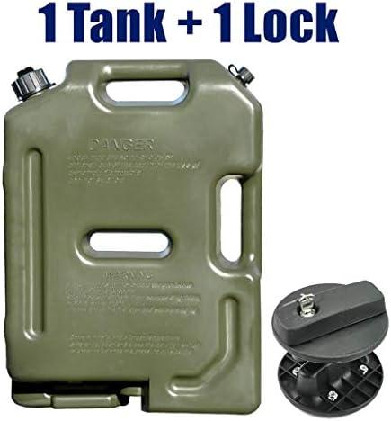 10Lアーミーグリーン燃料ジェリー缶、プラスチック製ガソリンタンク、Splicable軽油タンク、スペアマウント車/バイクガソリン缶 (Color : B)