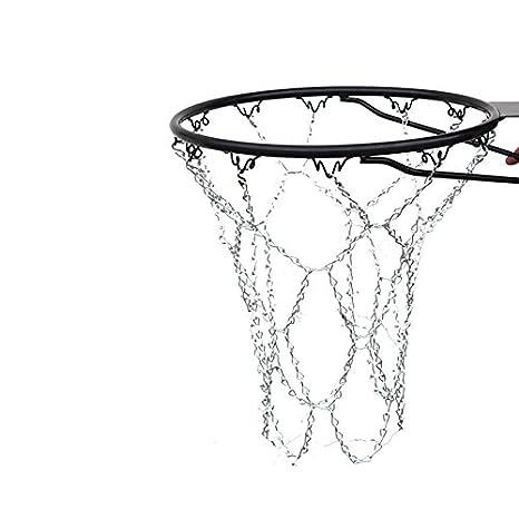 RUNACC Baloncesto Metal Cadena Net Heavy Duty cesta de baloncesto ...