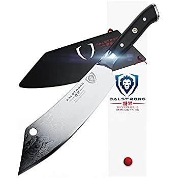 Image of Home and Kitchen DALSTRONG - 8' Chef's Knife'The Crixus' - Shogun Series - Chef & Cleaver Hybrid - Japanese AUS-10V Super Steel - Meat Knife - w/Sheath