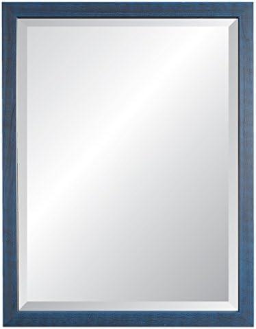 Alpine Mirror Art Nantucket II Blue Wall Mirror, 27 x 33