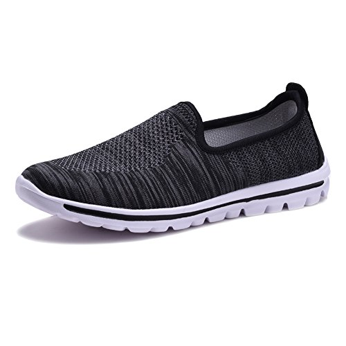 COODO - Zapatillas de running para mujer, color negro, talla 37,5 EU (Largo del pie=240mm)